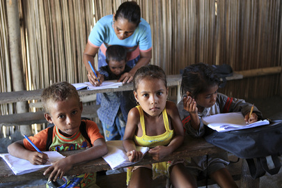 Timor-Leste Village Children Attend School
