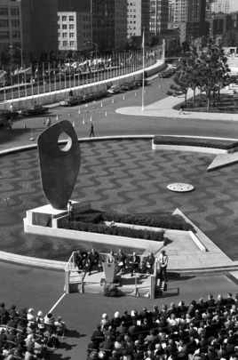 Sculpture Unveiled at United Nations Headquarters Honours Dag Hammarskjold