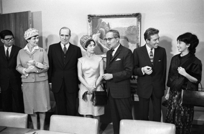 H.R.H. Princess Margaret and Earl of Snowdon Visit UN