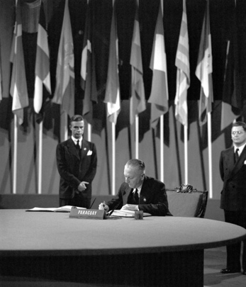 The San Francisco Conference, 25 April - 26 June 1945: Paraguay Signs the United Nations Charter