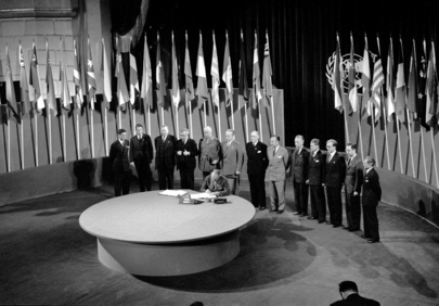 The San Francisco Conference, 25 April - 26 June 1945: Norway Signs the United Nations Charter