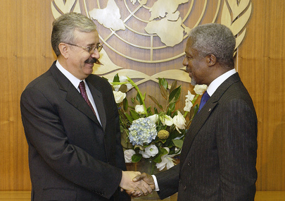 Secretary-General Meets with Foreign Minister of Iraq