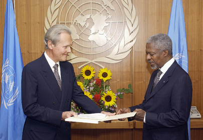 New Permanent Representative of Switzerland Presents Credentials to Secretary-General