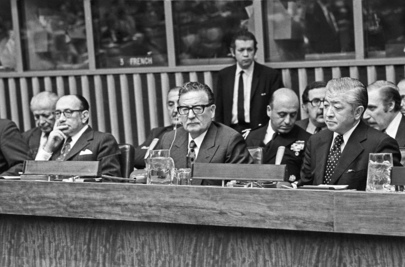 President Salvador Allende of Chile Pays an Official Visit to UN Headquarters