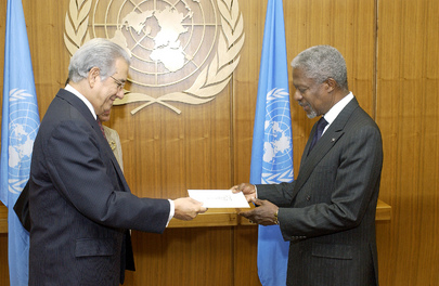 New Permanent Representative of the Dominican Republic to the United Nations Presents Credentials to Secretary-General