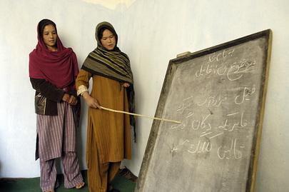 Afghan Women in Literacy Class
