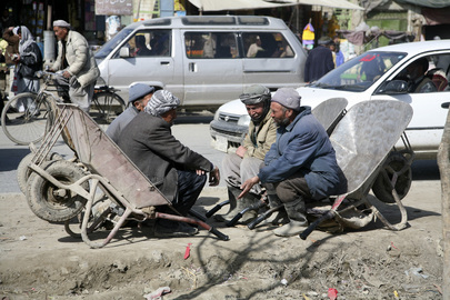 Afghan Workers Wait for Employment