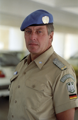 Head of Federal Republic of Germany Civilian Police Unit with UNTAG