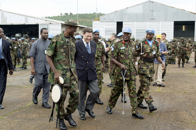 UNAMSIL Battalion Departs Sierra Leone for Liberia