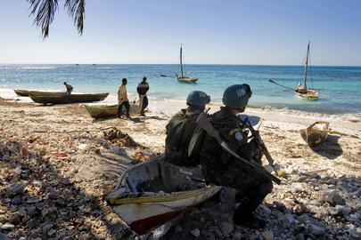 MINUSTAH Peacekeepers on Beach Patrol