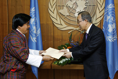 New Permanent Representative of Bhutan Presents Credentials
