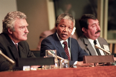 Nelson Mandela Addresses Press Conference Sponsored by Special Committee against Apartheid