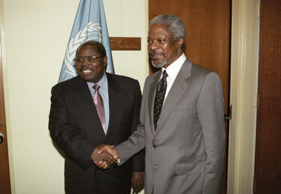 A former un deputy secretary general has joined the race to be the tanzanian ruling partys presidential candidate
