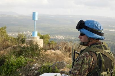 "UNIFIL Peacekeeper Patrols ""Blue Line"""