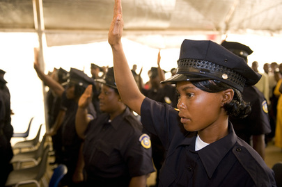 Liberian National Police Graduation Ceremony