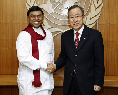 Secretary-General Meets Sri Lankan Senior Presidential Adviser 