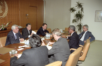 Secretary-General Meets with Special Envoys for Iraq