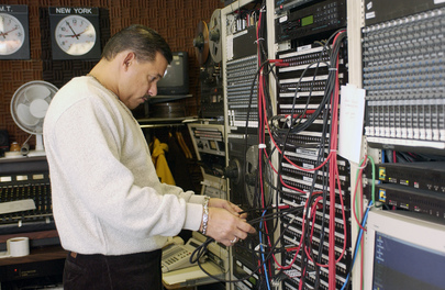 UN Radio Producers and Audio Engineers at Work