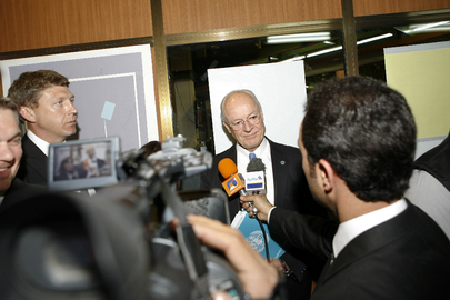 Head of UNAMI Briefs Media