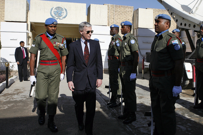 U.S. Ambassador Inspects United Nations Guard Unit