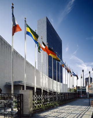 Flags of Member Nations Fly at Headquarters