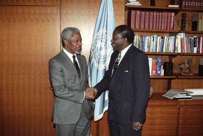 Secretary-General Meets with Permanent Representative of Burkina Faso