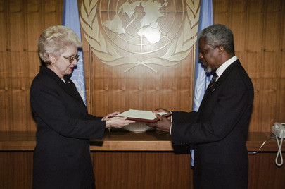 Permanent Representative of the Slovak Republic Presents Her Credentials
