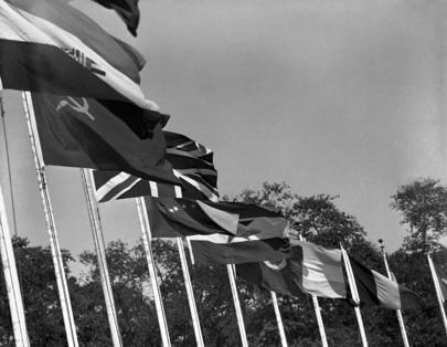 United Nations Flags at Lake Success