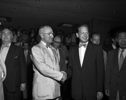 Former President Harry S. Truman Visits United Nations