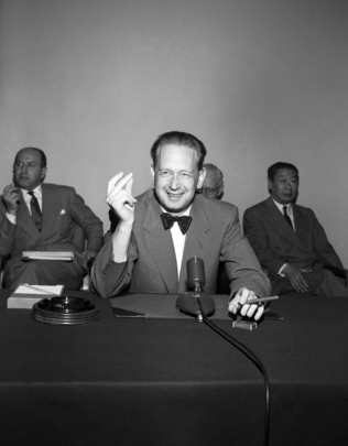 Secretary-General Dag Hammarskjöld Holds Press Conference