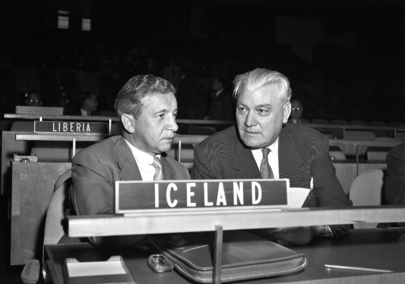 Icelandic Representatives to the 9th UN General Assembly