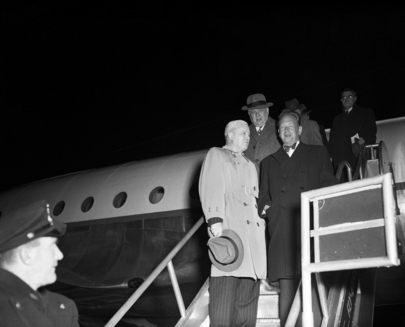 Secretary-General Dag Hammarskjöld Is Back from Peking