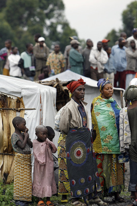 Kitabati IDP Camp Residents Gather to Meet Secretary-General