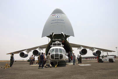Arrival of Antonov 124-100 Carrying Russian Helicopter for Humanitarian Relief Operations in Burundi