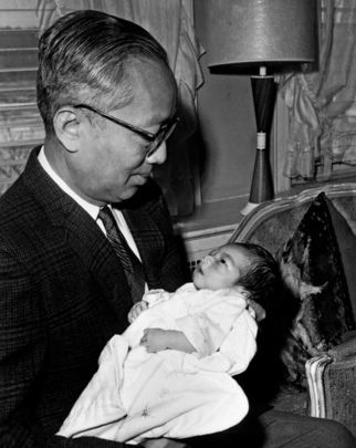 Secretary-General U Thant and his Grandchild