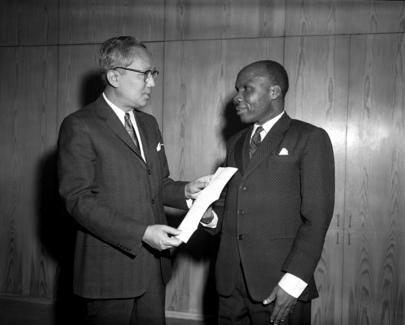 Tanganyika's New Permanent Representative to the UN Presents Credentials