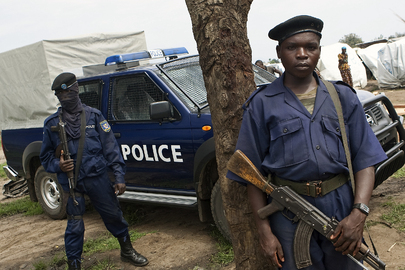 Police Nationale Congolaise Officers on Patrol