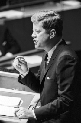 President John F. Kennedy Addresses the U.N. General Assembly