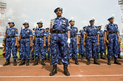 UNMIL Women Officers Participate in Medal Parade