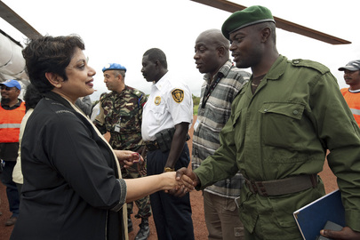 UN Special Envoy for Children and Armed Conflict Greets FARDC Commander