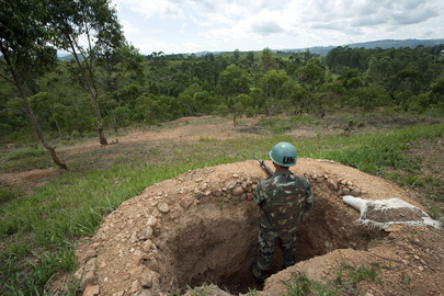 MONUC Peacekeepers Ensure Security at New Base in DR Congo
