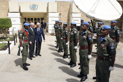 SRSG and US Ambassador to Iraq Inspect UNAMI Unit