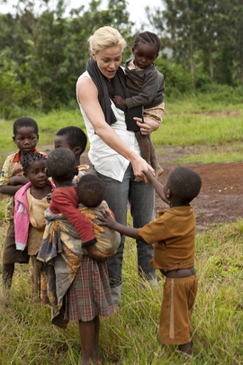 Charlize Theron Visits Hospital in DR Congo