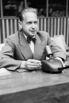 UN Secretary-General Dag Hammarskjöld