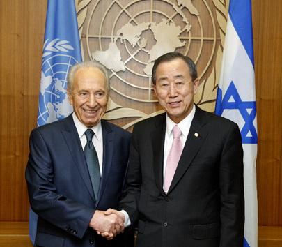 Shimon Peres meets BAN Ki-Moon - 6 May 2009