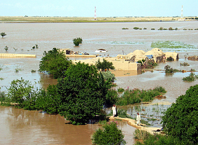 Flooded Kokaldash Village in Jawzjan Province