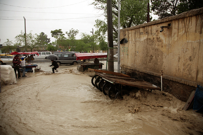 Flooded Streets in Kabul Neighbourhood