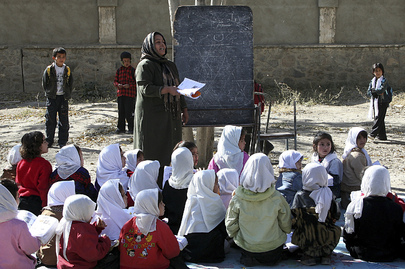Afghan Primary School Children Attend Classes