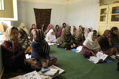Afghan Women Participate in Free and Quality Education Campaign Launch