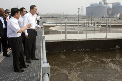 Secretary-General Visits Sewage Treatment Plant in Xi'an